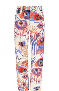 Укороченные джинсы прямого кроя с принтом Dries Van Noten