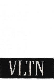 Повязка на голову из смеси шерсти и кашемира VLTN Valentino