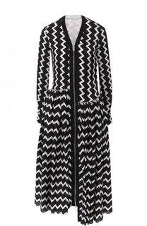 Шелковое платье-миди на молнии с принтом Stella McCartney