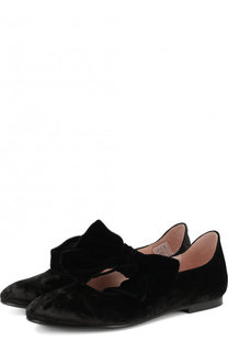 Текстильные туфли с бантом Beberlis