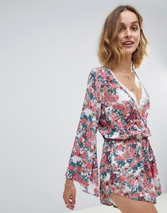 Raga Gardend Delight Floral Print Playsuit - Розовый