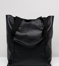 Mi Pac Tumbled Black Shopper Bag - Черный