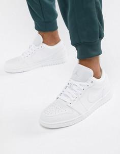 Низкие белые кроссовки Nike Air Jordan 1 553558-109 - Белый