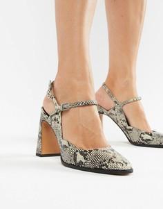 Туфли на блочном каблуке ASOS DESIGN Prague - Мульти