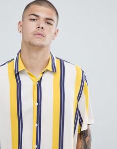 Oversize-рубашка в полоску ASOS DESIGN - Белый