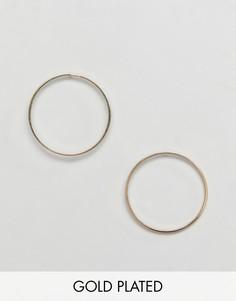 Позолоченные серьги-кольца Pilgrim - Золотой