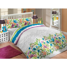 Комплект постельного белья Hobby home collection 1,5 сп, ранфорс, Lilian, синий (1501000256)