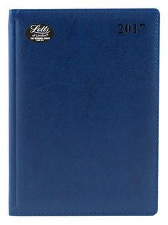 Ежедневник LETTS UMBRIA, A5, белые страницы, кожа искусственная, синий, 1 шт