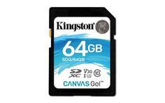 Карта памяти SDXC UHS-I U3 KINGSTON Canvas Go 64 ГБ, 90 МБ/с, 90X, Class 10, SDG/64GB, 1 шт.
