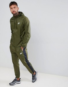 Спортивный костюм в стиле колор блок Nike 928119-395 - Зеленый