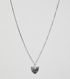 Серебряное ожерелье с подвеской Reclaimed Vintage inspired эксклюзивно для ASOS - Серебряный