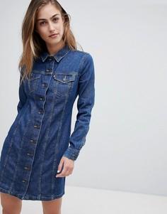 Джинсовое платье на пуговицах с длинными рукавами Levis - Синий