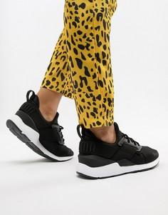 Черные атласные кроссовки Puma Muse - Черный