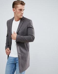 Серое строгое пальто New Look - Серый