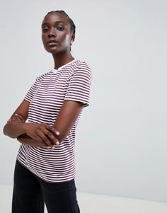 Selected Perfect Tee stripe t-shirt - Фиолетовый