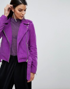 Замшевая байкерская куртка Y.A.S - Фиолетовый