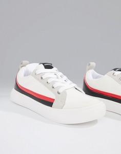 Белые кроссовки с замшевыми полосами Calvin Klein Dodie - Белый