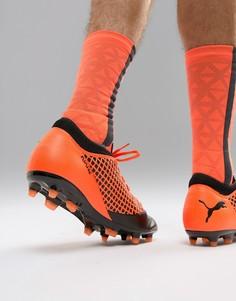 Оранжевые футбольные бутсы Puma Future 2.4 Firm Ground 104839-02 - Оранжевый