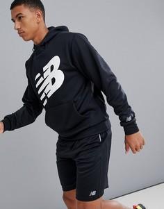 Черный худи с логотипом New Balance Running - Черный