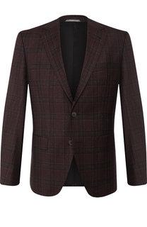 Однобортный пиджак из шерсти BOSS