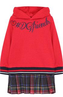 Хлопковое платье с капюшоном Dolce & Gabbana
