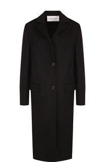 Пальто прямого кроя из смеси шерсти и кашемира Valentino