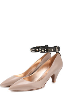 Кожаные туфли Valentino Garavani Precious на каблуке kitten heel Valentino