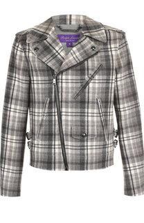 Шерстяная куртка на косой молнии Ralph Lauren