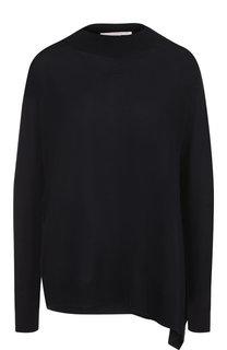 Шерстяной пуловер свободного кроя с разрезом Stella McCartney