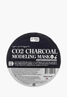 Маска для лица La Miso моделирующая (альгинатная) с углем на основу О2