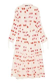 Шелковое платье с лепестками Alexander Mc Queen