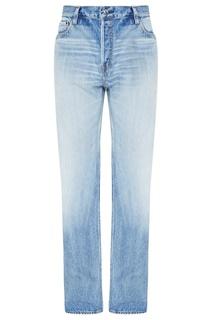 Укороченные голубые джинсы Balenciaga