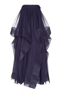 Фиолетовая юбка из сетки Adolfo Dominguez
