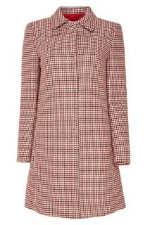Пальто с контрастным узором Red Valentino