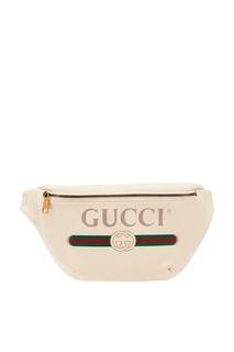 Сумка на пояс с логотипом Gucci