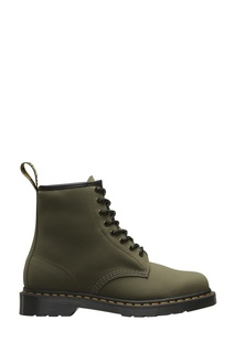 Высокие кожаные ботинки цвета хаки Dr Martens