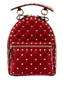 Красный рюкзак Garavani Rockstud