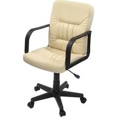 Кресло Фабрикант Чери А (кожа иск. DO №122 (кремовый) пиастра PL 600 PL ролик ст.)
