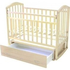 Кроватка Антел Алита (5) а/с, маятник продольного качания (белый)