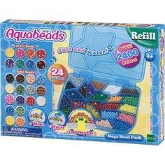 Мозаика Aquabeads Большой набор ювелирных и жемчужных бусин Мега с палитрой (79638)