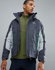 Темно-серая куртка 3 в 1 Jack Wolfskin North Border - Серый