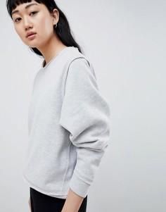 Свитшот с необработанными швами Selected Femme - Серый
