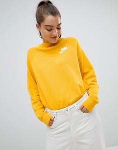 Желтый свитшот с логотипом-галочкой Nike Rally - Желтый