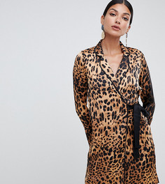 Платье с запахом и леопардовым принтом Missguided Tall - Мульти