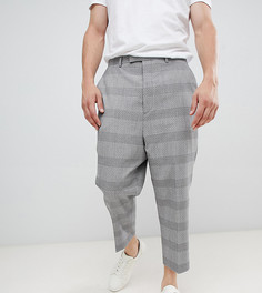 Heart & Dagger extreme drop crotch tapered trouser in grey jacquard - Серый