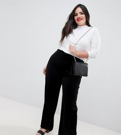 Бархатные брюки-палаццо Koko - Черный