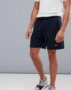 Черные флисовые шорты Nike Training Dry Hybrid AO1416-010 - Черный