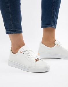 Белые кожаные кроссовки Ted Baker - Белый