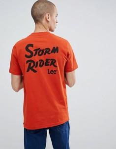 Оранжевая футболка с надписью Storm Rider Lee - Оранжевый