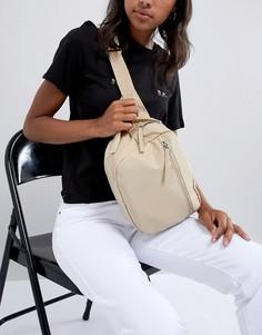 Бежевая сумка-кошелек на пояс с молнией Monki - Бежевый